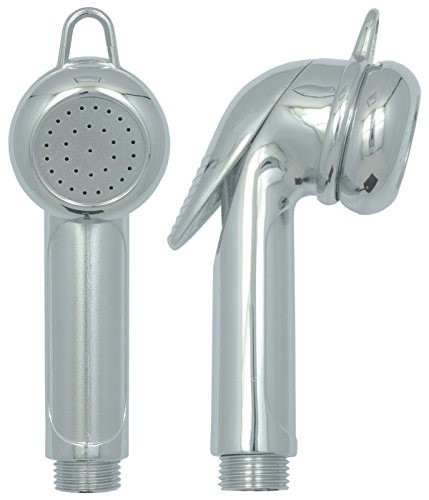 Bidet Handbrause mit Wasserstop Campingdusche Arabic Shower Intimdusche BD Handdusche Toilette Bootsdusche Chrom
