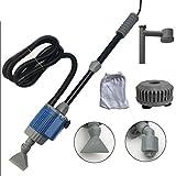 Shumu Máquina de limpiador de acuario eléctrico automático extraíble cambiador de agua de arena algas limpiador de filtro cambiador