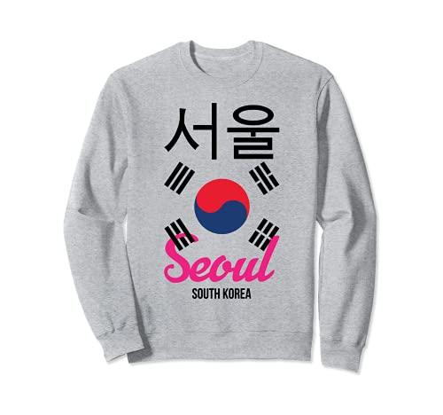 Divertido Seúl Corea Corea del Sur K-Pop Corea diciendo Sudadera