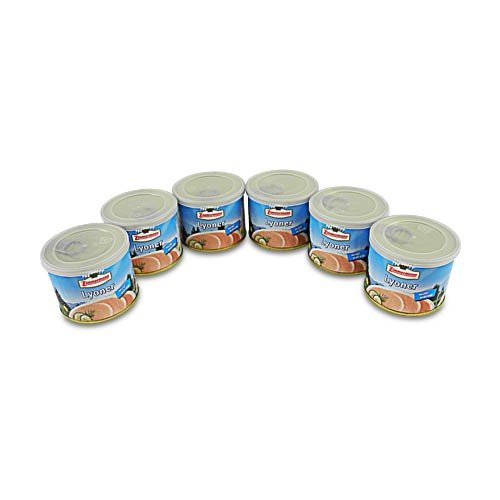 Delikatess Lyoner - Wurstspezialität 6er Pack (6 Dosen à 200 g)