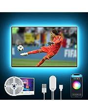 2.8M Tira Led TV WiFi, Gosund Luces LED RGB USB con APP Contol y Modo Música, Ajuste de Color y Brillo, Compatible con Alexa y Google Home, Tira LED Inteligente para TV 40-60 Pulgadas (DIY, solo 2.4G)
