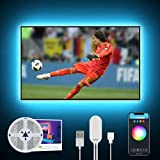 2.8M Tira Led TV/PC WiFi, Gosund Luces LED RGB USB con Modo Música, APP Contol, Multicolor, Regulable, Compatible con Alexa/Google Home, LED Lights Inteligente para TV 40-60 Pulgadas (solo 2.4G)