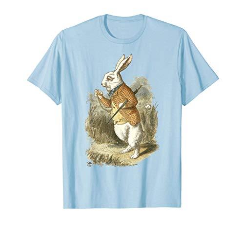 Weißer Party T-Shirt Hase Alice im Wunderland Hase Kaninchen T-Shirt