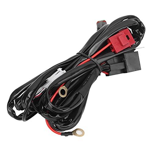 Arnés de cableado de foco de interruptor universal 40A 12V 3 metros LED 1V1 con interfaz DT impermeable para luz de coche