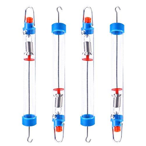 UKCOCO Balanza transparente plástica del resorte de la balanza de la balanza mecánica de 4 PCS 25N/2500g con el gancho colgante