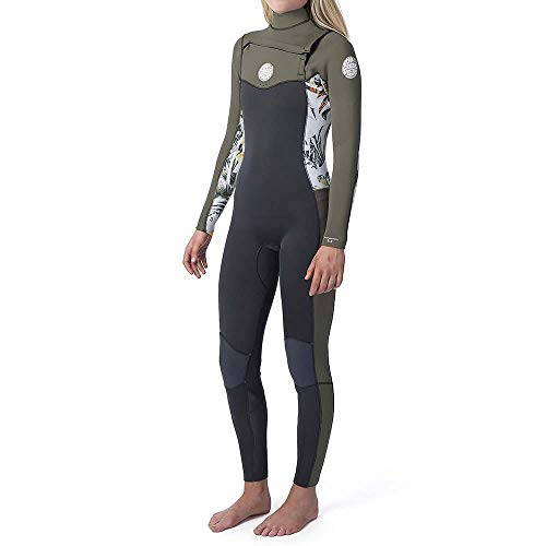 Rip Curl dames Dawn Patrol 4/3 4/3mm wetsuit met Chest Zip Wit - Easy Stretch Flash-voering