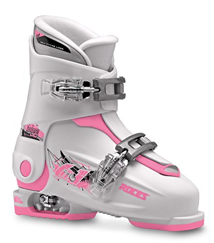 Roces Patins Idea Up 19,0–22.0 Enfants réglable pour Chaussures de Ski, Enfant, Idea UP 19.0-22.0, White-Deep Pink, 30-35