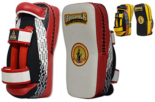 Ring to Cage MUGHALS MiM-Foam Curved Muay Thai Kicking Pad (Red/Black)
