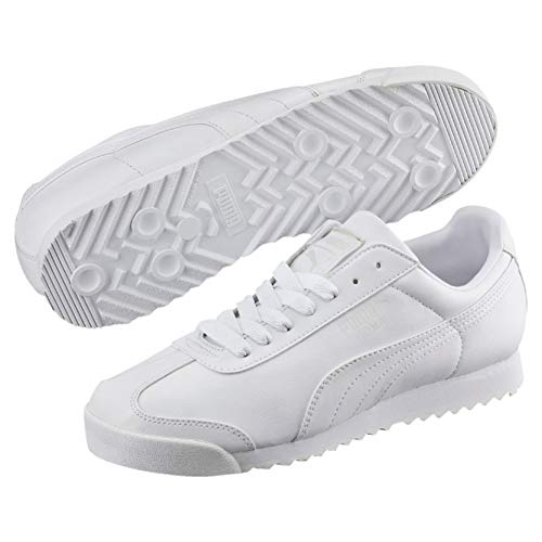 Puma Roma Basic', Baskets Basses Homme, Blanc (White-Light Gray), 40 EU