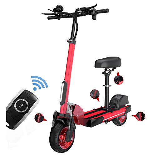 Patinetes Electricos con Asiento,Plegable E-Scooter 500W,10