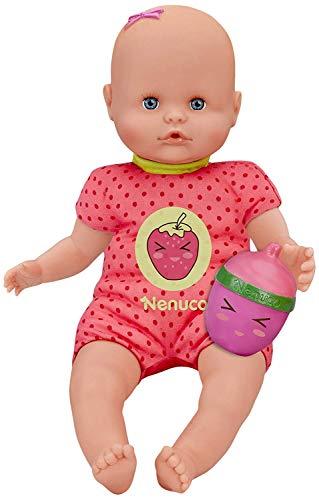 Nenuco- Muñeco Bebé con Biberón Sonajero y Pijama Rosa, para niños a partir de 1 año (Famosa 700014920)