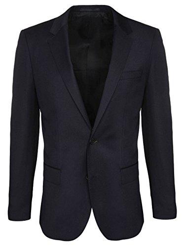 BOSS Hugo Boss Slim Fit Hayes wollen jas 48 donkerblauw