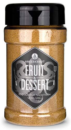 Ankerkraut Fruit & Dessert, fruchtiger Rub für Obst-Toppings und Nachtische vom Grill, 270g im Streuer