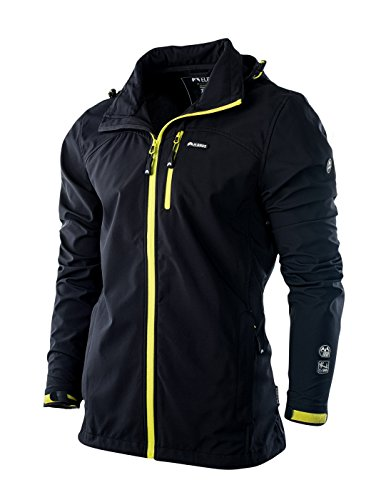 Elbrus Herren MAWSON Softshell, Black/Yellow Green, XL