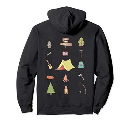 Camping Zelt Fans Lustige Camper Icons Outdoor Geschenk Pullover Hoodie
