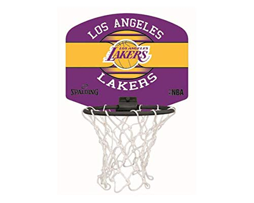 Spalding NBA Team Minicanestro con Palla Los Angeles Lackers