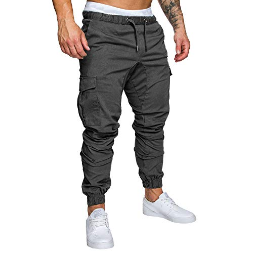 Herren Jogginghose Hosen Casual Elastic Joggings Sport Solid Baggy Pockets Hosen Cargo Herren Jeans Hose
