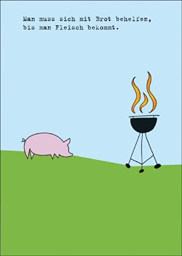 Amuante uitnodigingskaart voor het grillen met varken op de grill. • Ook voor direct verzenden met uw persoonlijke tekst als inlegger. • Wenskaart met envelop om hoogtepunten van het leven met vrienden en familie te vieren.