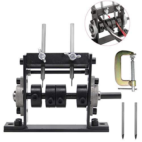 Mxmoonant Máquina peladora de cables con 2 cuchillos para Φ 1-30 mm, Cable de Cobre pelacables con manivela, conectable por taladro, con cierre de fijación tipo G y 2 cuchillas de repuesto