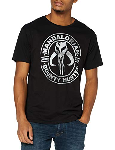 THE MANDALORIAN t-Shirt Camiseta, Negro,...
