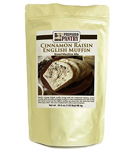 The Prepared Pantry Cinnamon Raisin English Muffin Gourmet Bread Machine Mix (for oven also)