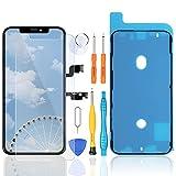 LL TRADER Ecran pour iPhone XS Max OLED Display Numériseur Tactile de 6.5'' Écran d'Assemblage, Protecteur d'Écran et Outils de Réparation Noir