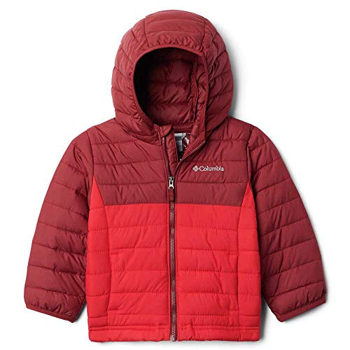 Columbia Powder Lite Boys Hooded Jacket, Giacche (3-in-1) Bambino, Mountain Red, Red Jasper, L
