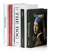 MINORI 本 ディスプレイ 5冊セット 洋書 フェイク 小道具 撮影 展示 ダミー イミテーション ブック (タイプA(5冊セット))