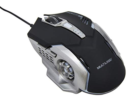 Mouse Gamer Dpi 2400 Preto/Grafite Multilaser - MO269