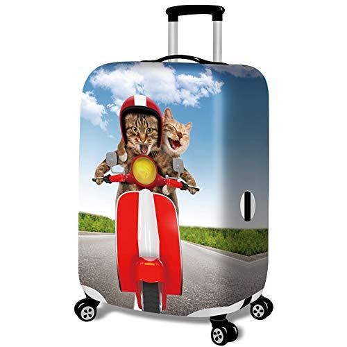 MISSMAO_FASHION2019 Cubiertas de Maletas a Prueba de Polvo Equipaje Protectora Elástico con Cremallera Gracioso Gato Serie