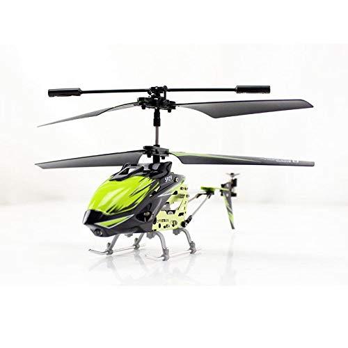 DBXMFZW 3.5 Canales Control Remoto Helicóptero Indoor Mini RC Aviones RC Avión con Luces Speed Ajustable RC Airplane Juguete Regalos para Niños, Carga USB, RTF (Color : Verde)