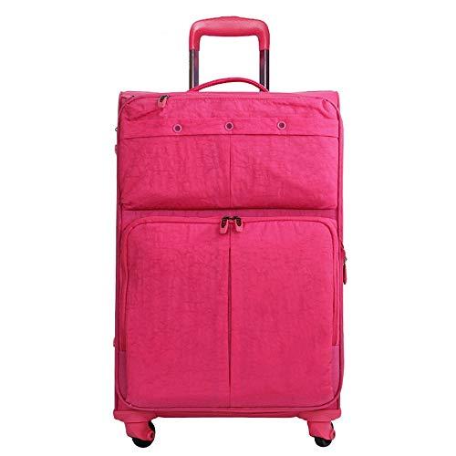 Yamyannie Maleta de equipaje de tela Oxford ligera con ruedas giratorias, bolsa de viaje de gran capacidad de 50 cm 24 pulgadas 28 pulgadas para vacaciones