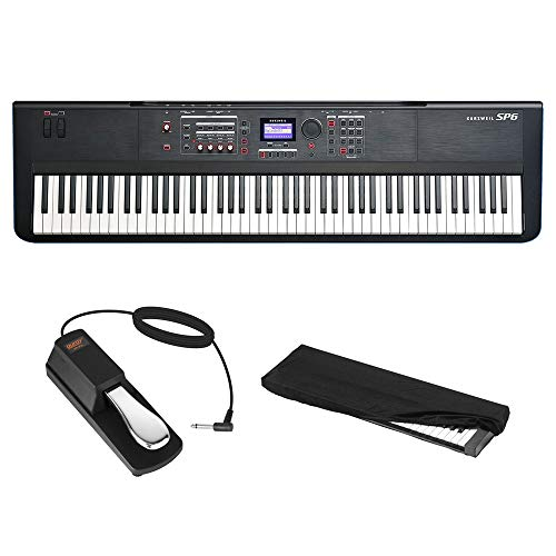 Best Price! Kurzweil SP6-8 88-Key Stage Piano with Fully-Weighted Hammer-Action Keyboard, Sustain Pe...