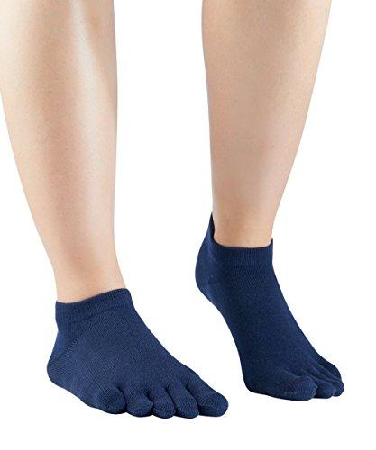 Knitido Essentials Sneaker, Zehensocken Unisex, für jeden Tag, 85prozent Baumwolle, in schwarz & 6 weiteren Farben, Größe:39-42, Farbe:Navy