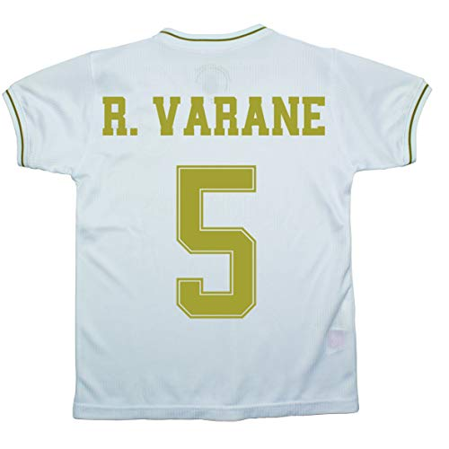 Champion's City Set Shirt und Hose für Kinder zur Erstausstattung – Real Madrid – Replik – Spieler, Jungen, 5 - Raphaël Varane, 4 Años