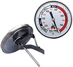 Tel-Tru BQ325R Big Green Egg, Primo, Komodo, Grill Dome, or Other Kamado-Style Replacement Thermometer, 3