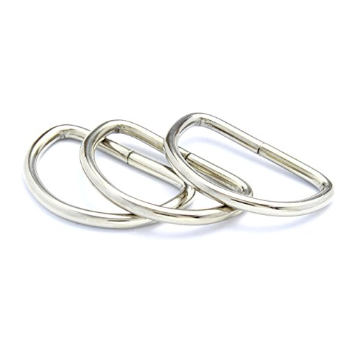 40mm Metal D-Rings Buckles for Webbing Strap Tape, Bags and Purse Handles (10)