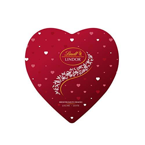 Lindt Lindor Lata Corazón de San Valentín - Bombones de chocolate con leche, 250gr