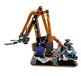 HiSKY SG90 MG90S 4 DOF Desmontaje acrílico mecánico brazo robot garra manipulador para Arduino Maker Kit de aprendizaje DIY Robot (marrón)