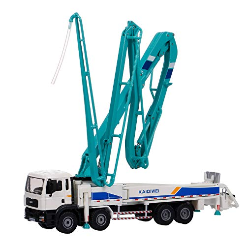 GoolRC Concrete Pump Truck for Kids, 1:55 Scale Diecast Car Model Car, Simulation Engineering Machine Model Gift for Boys and Girls