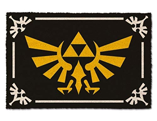 Zelda Triforce Logotipo Felpudo 60x40cm Negro de Nintendo de Coco