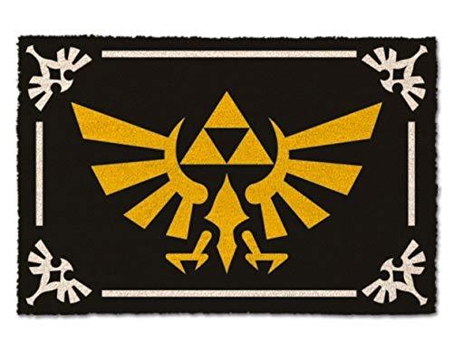 Zelda Triforce Logotipo Felpudo 60x40cm Negro de...
