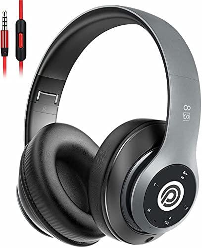 Bluetooth Kopfhörer Kabellose, HiFi Stereo Over Ear Kabellos Kopfhörer mit Mikrofon und Faltbares Wireless Headphone, Unterstützt die Micro SD/TF FM (für iPhone/Samsung/iPad/PC)