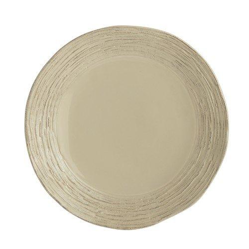 Arte Italica Graffiata Taupe Salad/Dessert Plate