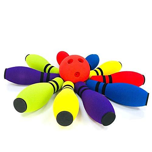 El conjunto de juguete Niños suave rodar Soft Bowling Set Juguetes cubierta de espuma for la Educación Bowling juguete clásico de mesa Juguetes for niños regalos divertidos ( Size : Free size )