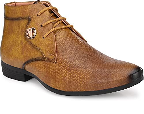 Aaravin's Men Synthetic Formal Derby Shoes(Black)