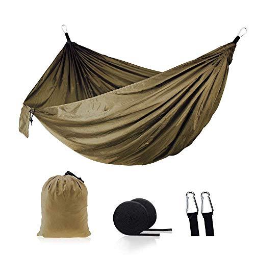 ZXL Hangmat Wandelen Camping 270 * 140 cm hangmat draagbaar nylon veiligheid parachutestoel schommel outdoor dubbel persoon vrije tijd 1