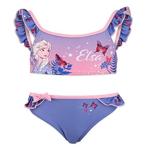 Disney Frozen 2 – Bikini 2 piezas playa piscina – niña – Producto original con licencia oficial 1863 Blu 8 años