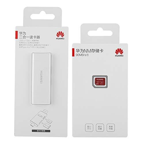 Lector Tarjetas USB Tarjeta De Memoria, Lector De Tarjetas Y Tarjeta De Memoria Nano De Lectura De Alta Velocidad con Diseño De último Tamaño (256 GB)