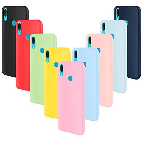 ivencase 9 × Funda Huawei P Smart Z, Carcasa Fina TPU Flexible Cover para Huawei P Smart Z (Rosa Gris Rosa Claro Amarillo Rojo Azul Oscuro Translúcido Negro Azul Claro)